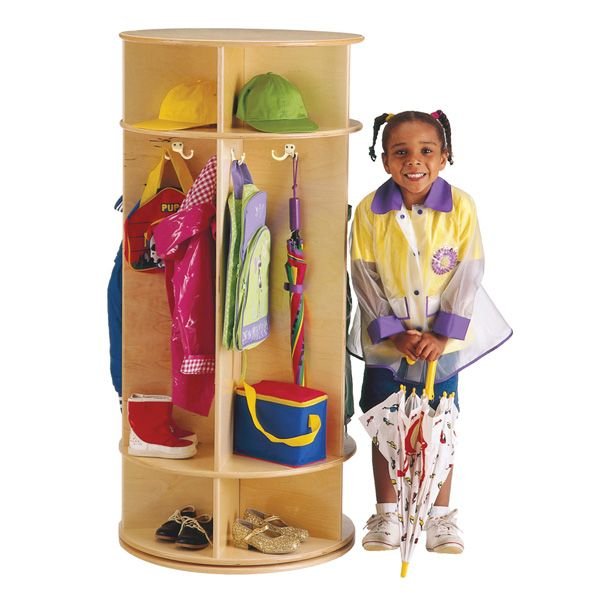 Jonti-Craft®Revolving 5 Section Coat Locker