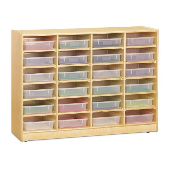 Jonti-Craft® 24 Paper-Tray Mobile Storage - With Clear Paper-Tray