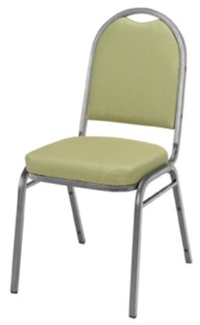 """KFI 520 """"500"""" Series 2"""" Seat Stack Chair with Grade 3 Fabric, Without Arms"""