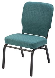 """KFI """"HTB1040"""" Series 3.5"""" Seat Stack Chair with Grade 2 Fabric, Without Arms"""