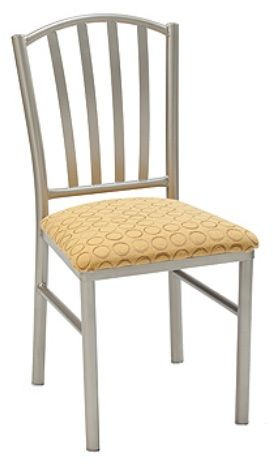 """KFI 3732-US """"3700"""" Series Cafe Chair with Upholstered Seat: Without Arms"""