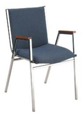 """KFI 421 """"400"""" Series 2"""" Seat Stack Chair with Grade 1 Fabric"""