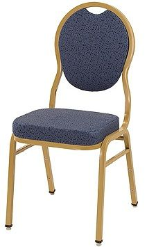 """KFI """"1630"""" Series Stack Chair with Grade 3 Fabric: 3"""" Seat, Without Arms"""