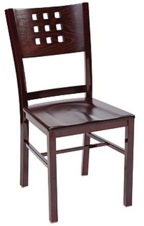 """KFI 3903-WS """"3900"""" Series Chairs with Wood Seat: Without Arms"""