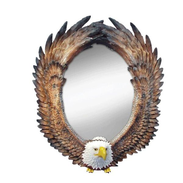 Eagle Oval Wall Mirror, Pack Of 2