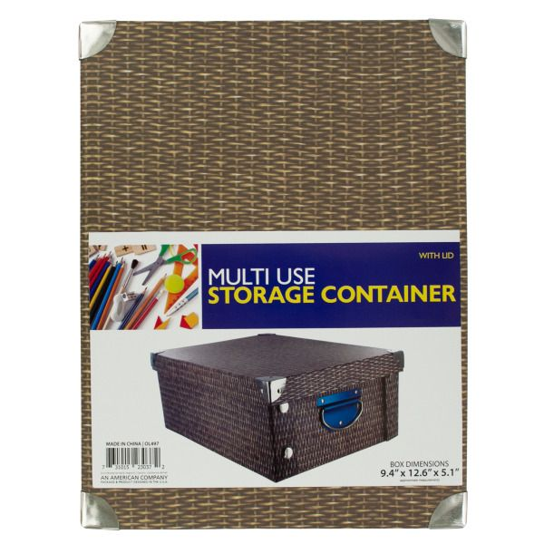 Multi-Use Storage Container With Lid