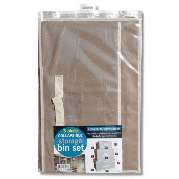 Collapsible Storage Bin Set