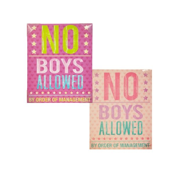 No Boys Allowed Canvas Wrapped Wall Art