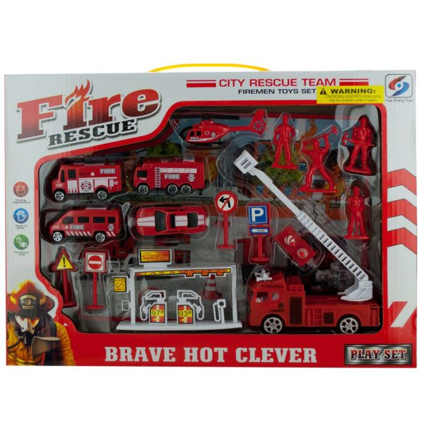 Fire Rescue Team Play Set, Pack Of 2