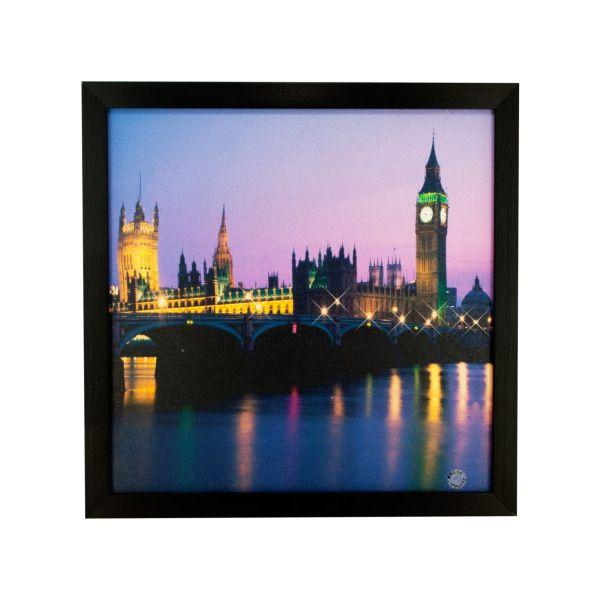 London Nightscape Twinkle Light Artwork