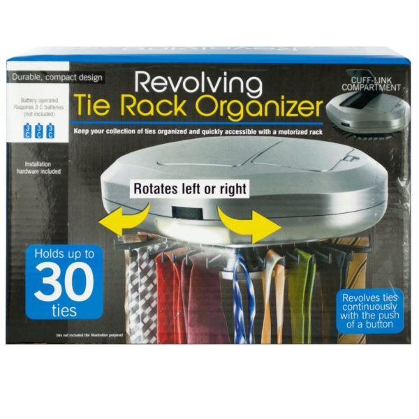 Revolving Tie Rack Organizer, Pack Of 2