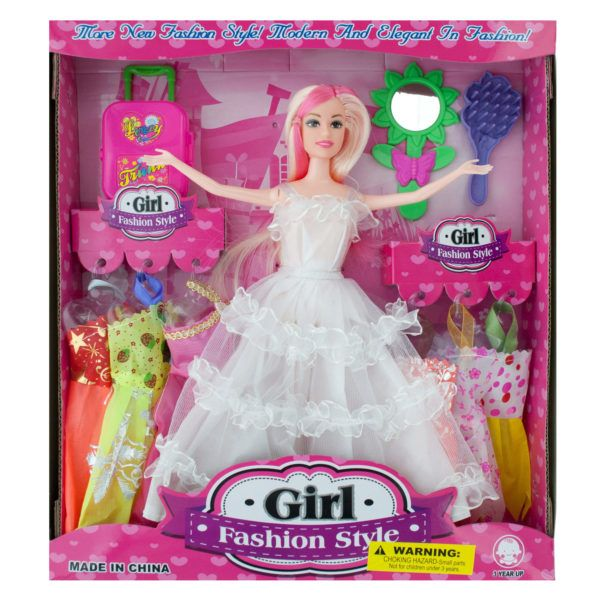Bride Fashion Doll With Dresses & Accessories, Pack Of 2