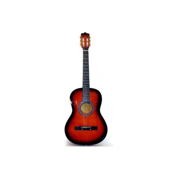 Dark Tan 6 String Guitar