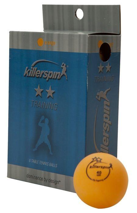 Killerspin Training 2 Star Balls: Orange, Pack of 6