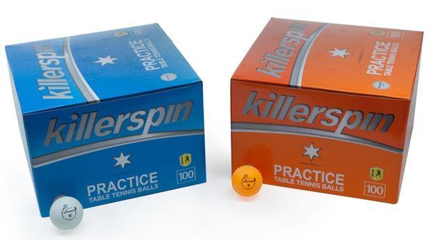 Killerspin Practice 1-Star Balls: Orange, Pack of 100