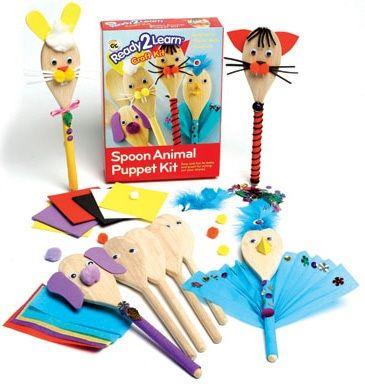 Ready 2 Learn Spoon Animal Puppet Kit