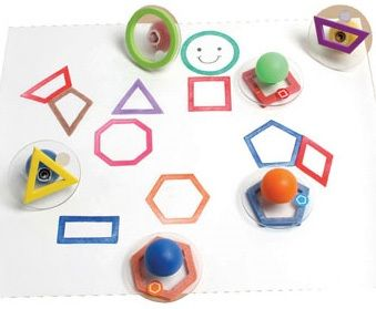 Ready 2 Learn Giant Stampers - Geometric Shapes - Outline - Set Of 10