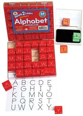 Ready 2 Learn Alphabet And Number Combo Stamp Sets - Dotted Lines - Small - Set Of 83
