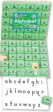 Ready 2 Learn Alphabet Stamps - Lowercase - Large - Set Of 34