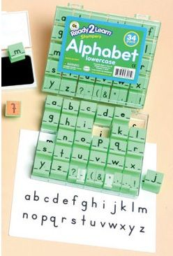 Ready 2 Learn Alphabet Stamps - Lowercase - Small - Set Of 34