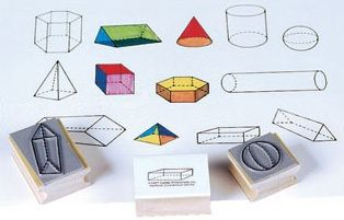 Ready 2 Learn Geometric Shape Stamps - 3D - Set Of 13