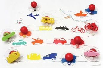 Ready 2 Learn Giant Stampers - Transportation Vehicles - Set 1 - Set Of 10