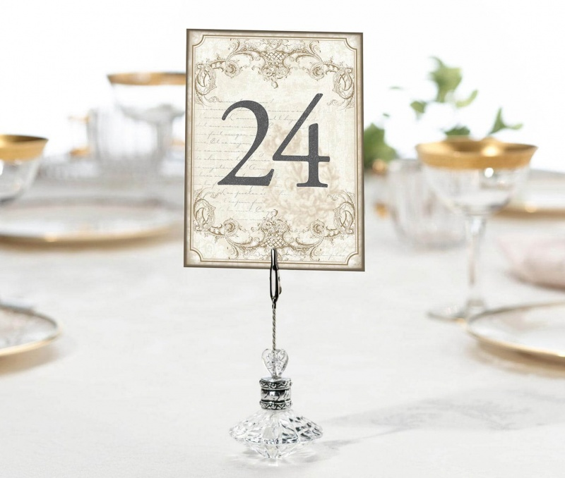 Vintage Gold Table Numbers 1-24