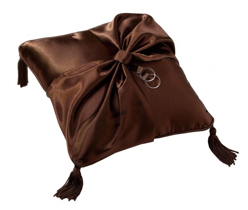 Brown Ring Bearer Pillow