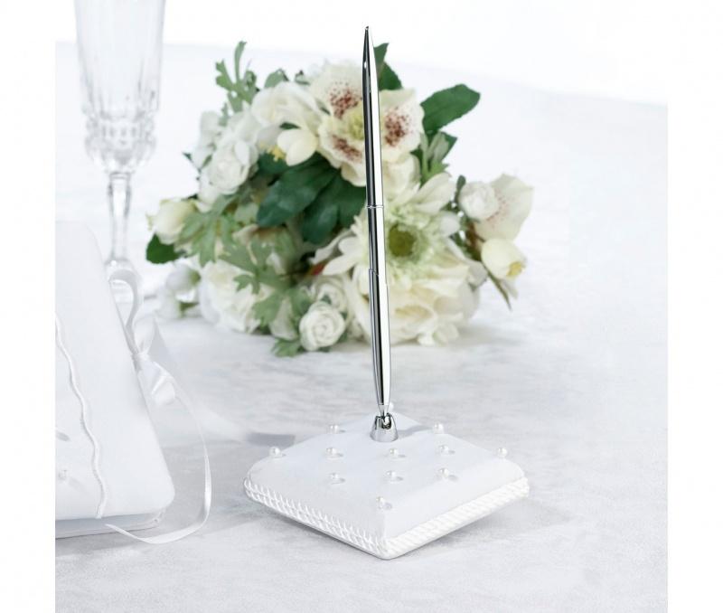 White Scattered Pearl Pen Set
