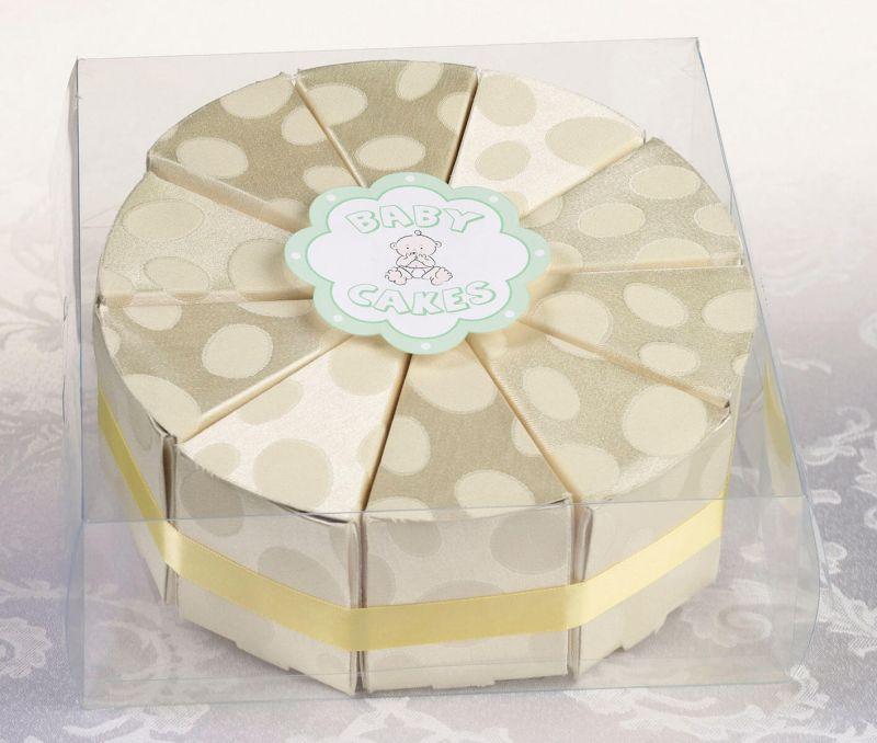 10 Yellow Cake Slice Boxes