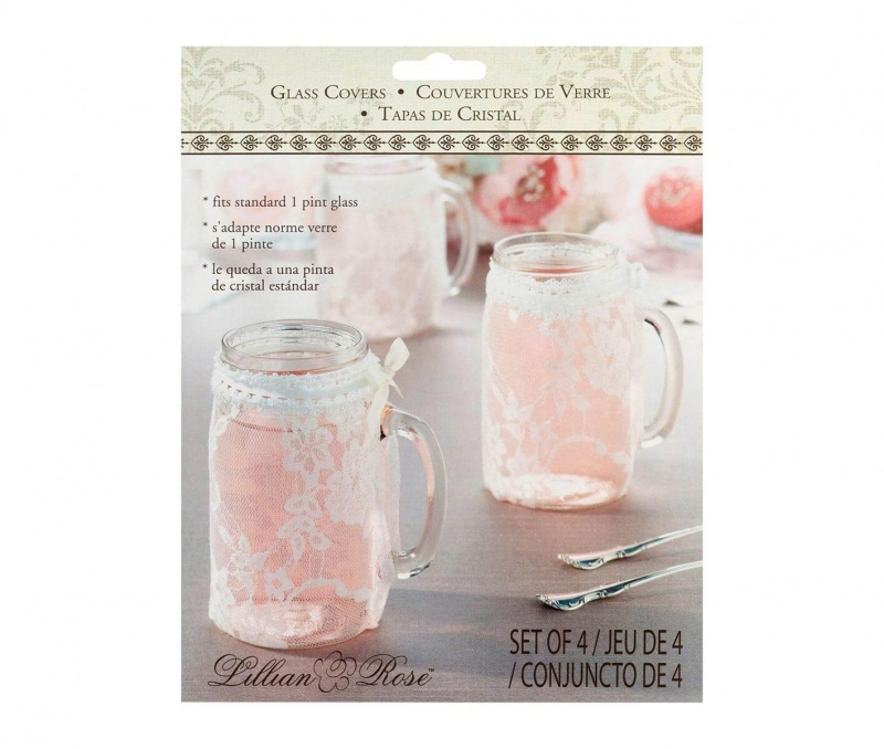 4 Lace Glass Covers