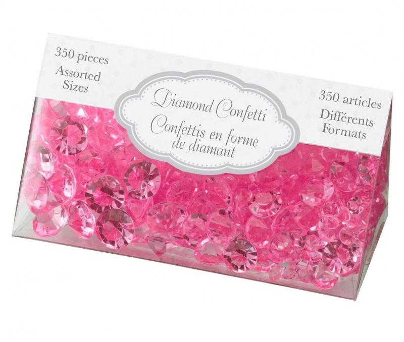 Hot Pink Diamond Confetti