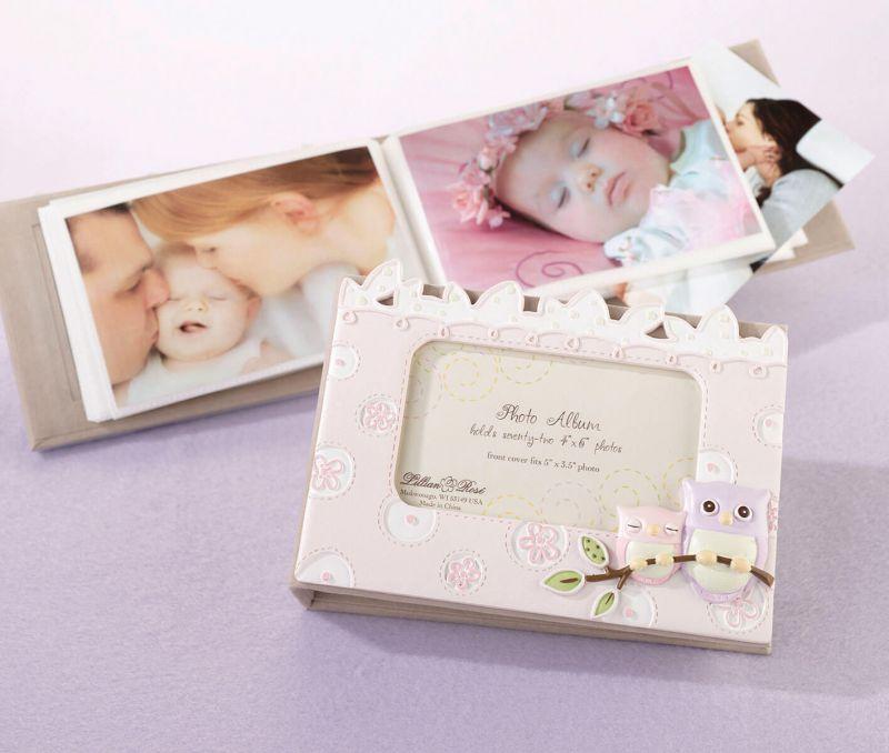Pink Owl Baby Photo Album