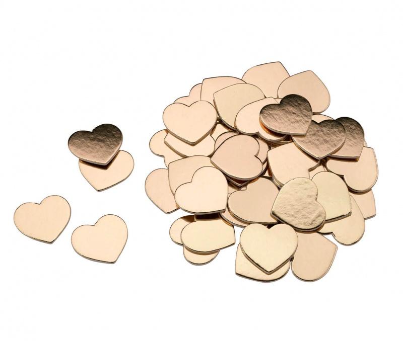 Gold Foil Cardboard Hearts For Guest Signing Frame