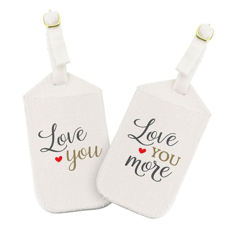 Love You More Luggage Tag Set