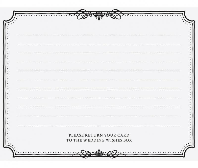 48 Black & White Wedding Wishes Cards