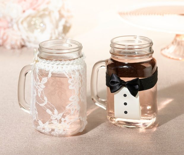 Bride & Groom Drink Glass Cover