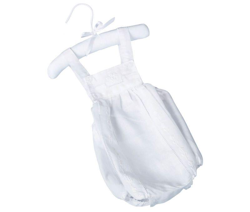 White Baby Romper