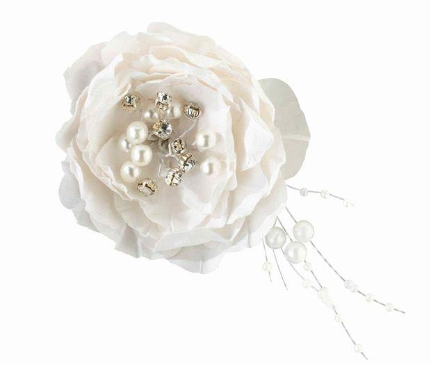 Vintage White Flower Hair Clip