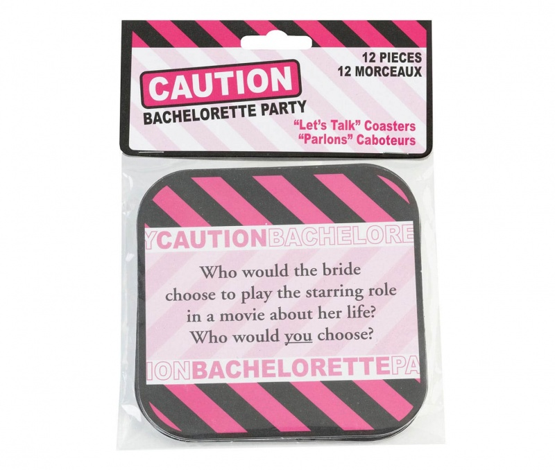 12 Bachelorette Party Coasters