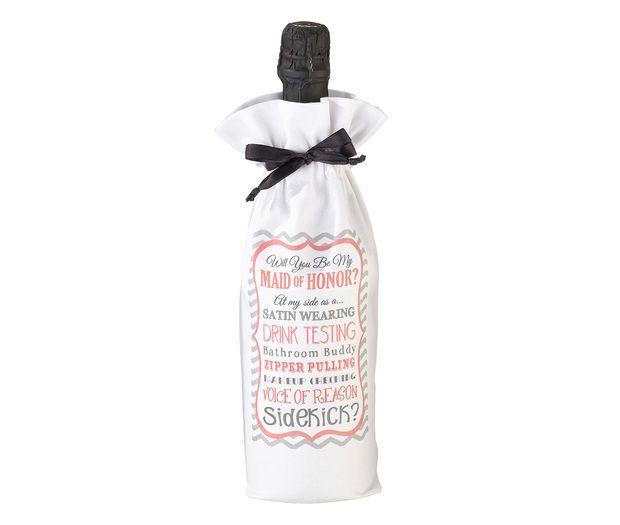 Will You Be My Maid Of Honor/Sidekick Wine Bag