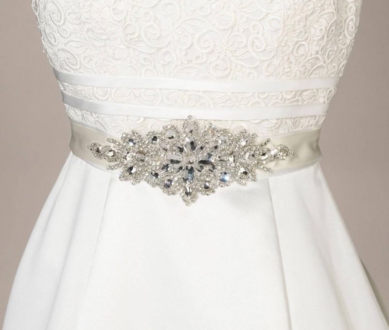 Ivory Rhinestone Bridal Belt