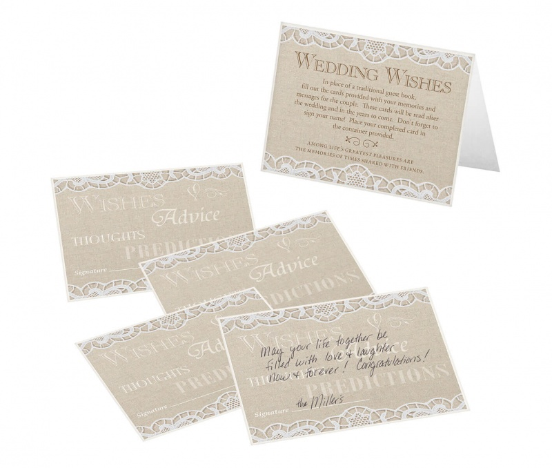Country Lace 48 Guest Signing Cards