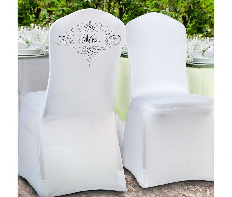 White Mrs. Chair Cover