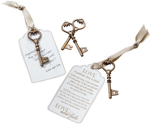 24 Bronze Christian Guest Signing Key Tags