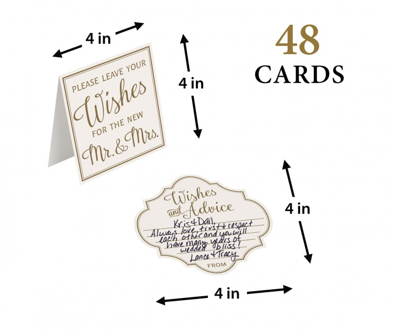 Ivory Wishes And Advice Cards