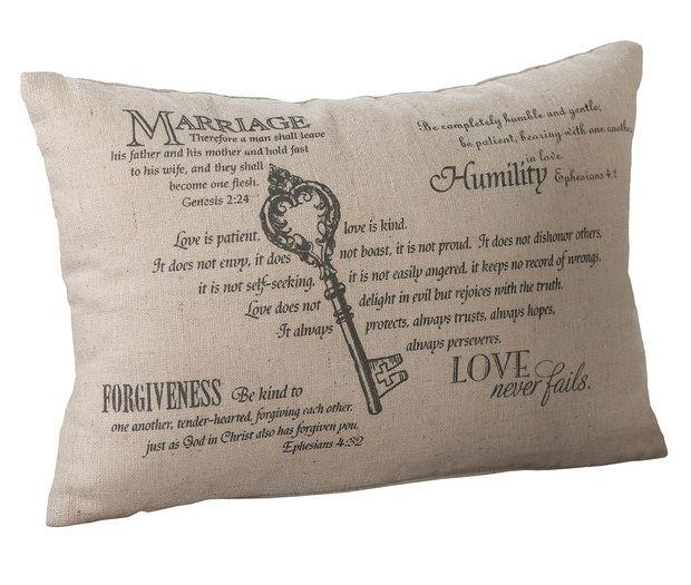 Christian Key Ring Bearer Pillow