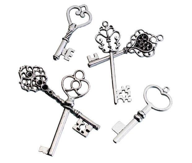 24 Vintage Silver Key