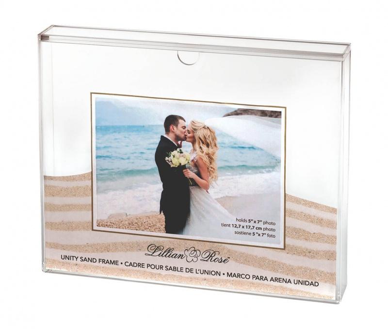 Clear Acrylic Unity Sand Ceremony Photo Frame