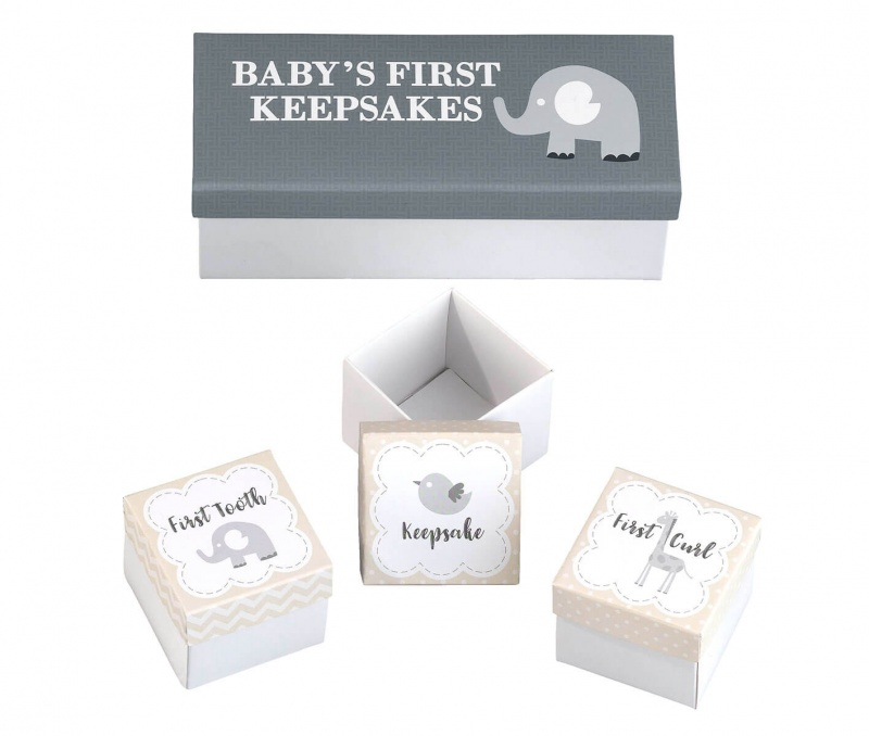 Set Of 3 Baby's First Keepsakes Boxes